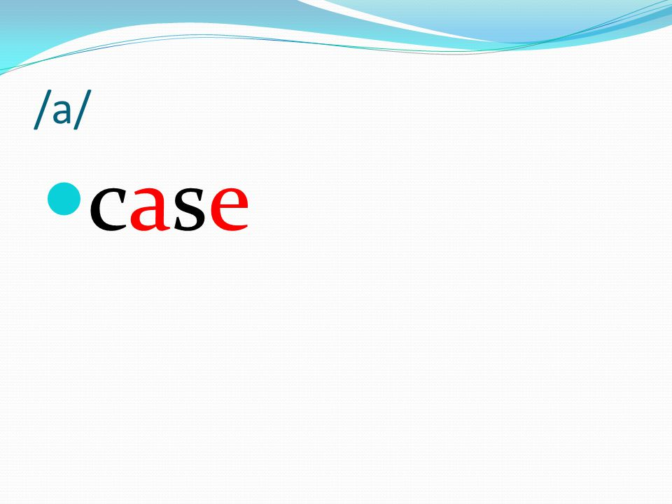 /a/ case