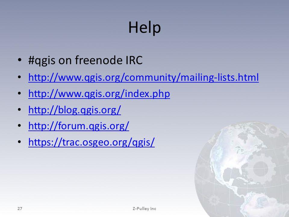 Help #qgis on freenode IRC http://www.qgis.org/community/mailing-lists.html http://www.qgis.org/index.php http://blog.qgis.org/ http://forum.qgis.org/