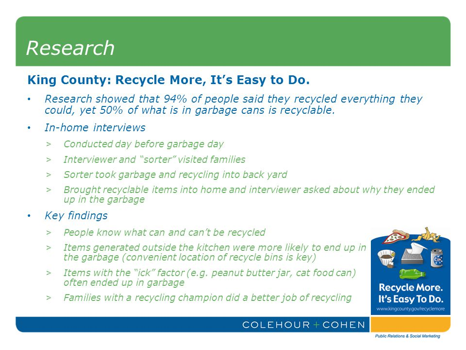 King County: Recycle More, It's Easy to Do.