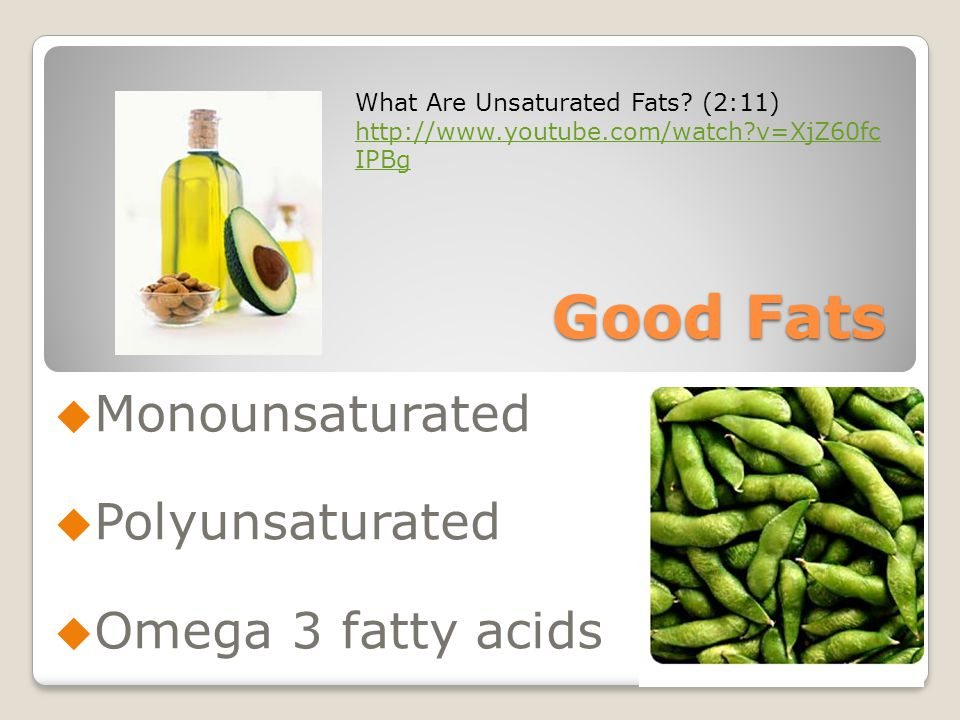 Good Fats  Monounsaturated  Polyunsaturated  Omega 3 fatty acids What Are Unsaturated Fats.