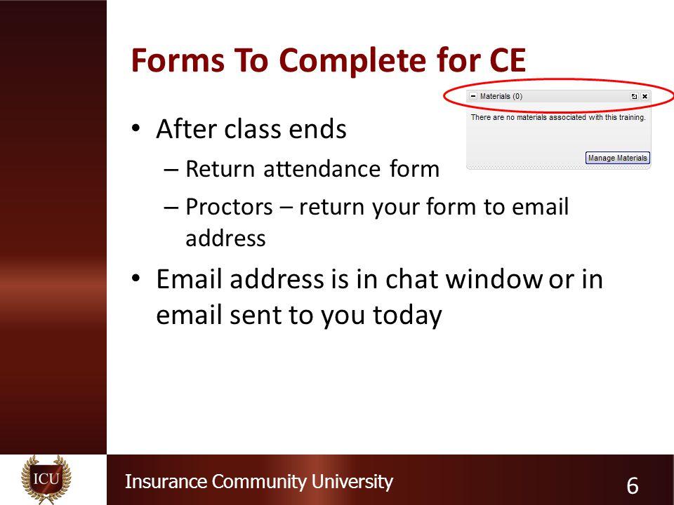 Insurance Community University Where's the coverage? 17 Recall
