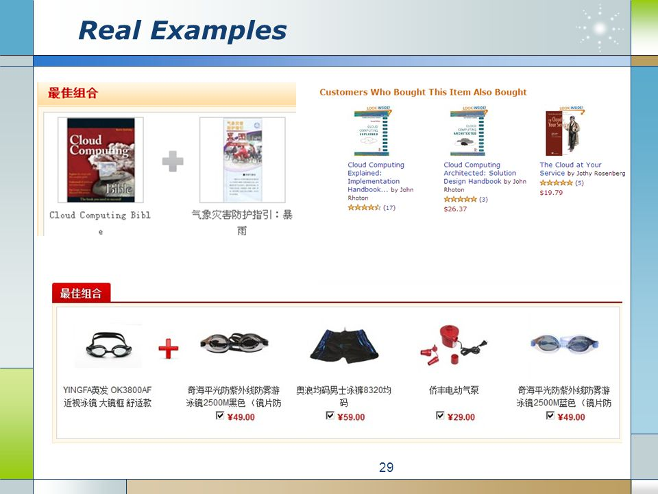 Real Examples 29