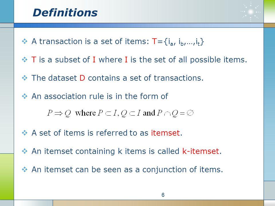 Itemset Calculation 17