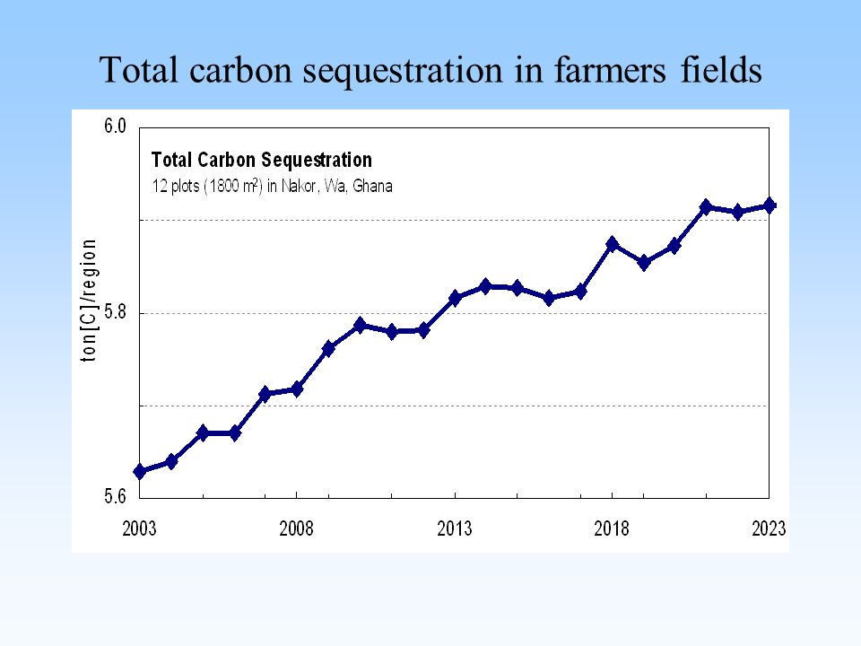 Total carbon sequestration in farmers fields