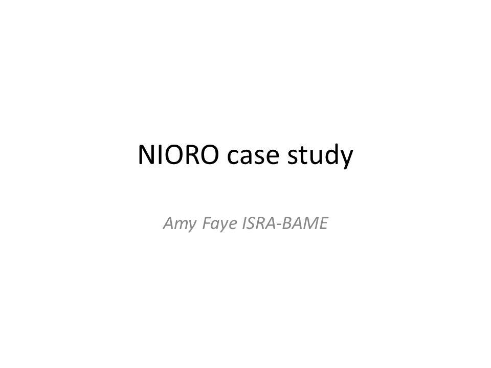 NIORO case study Amy Faye ISRA-BAME