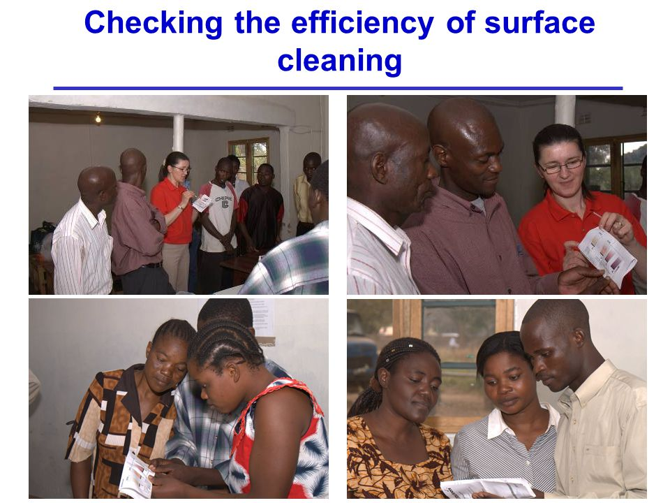 Checking the efficiency of surface cleaning