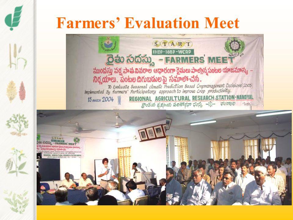 Farmers' Evaluation Meet