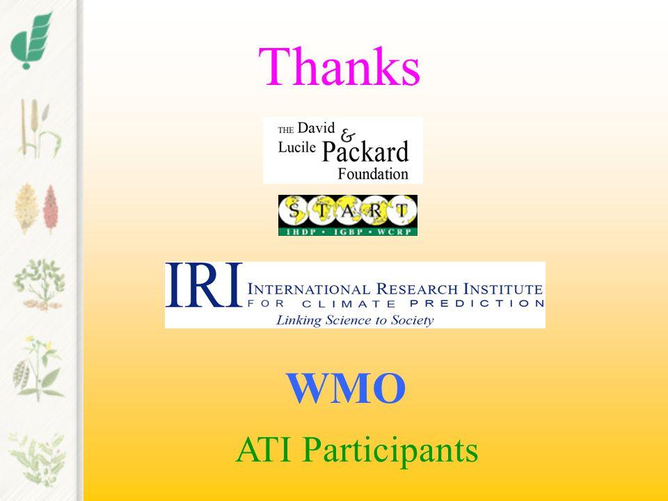 Thanks WMO ATI Participants