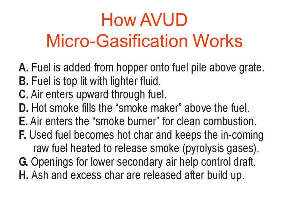 How AVUD Micro-Gasification Works