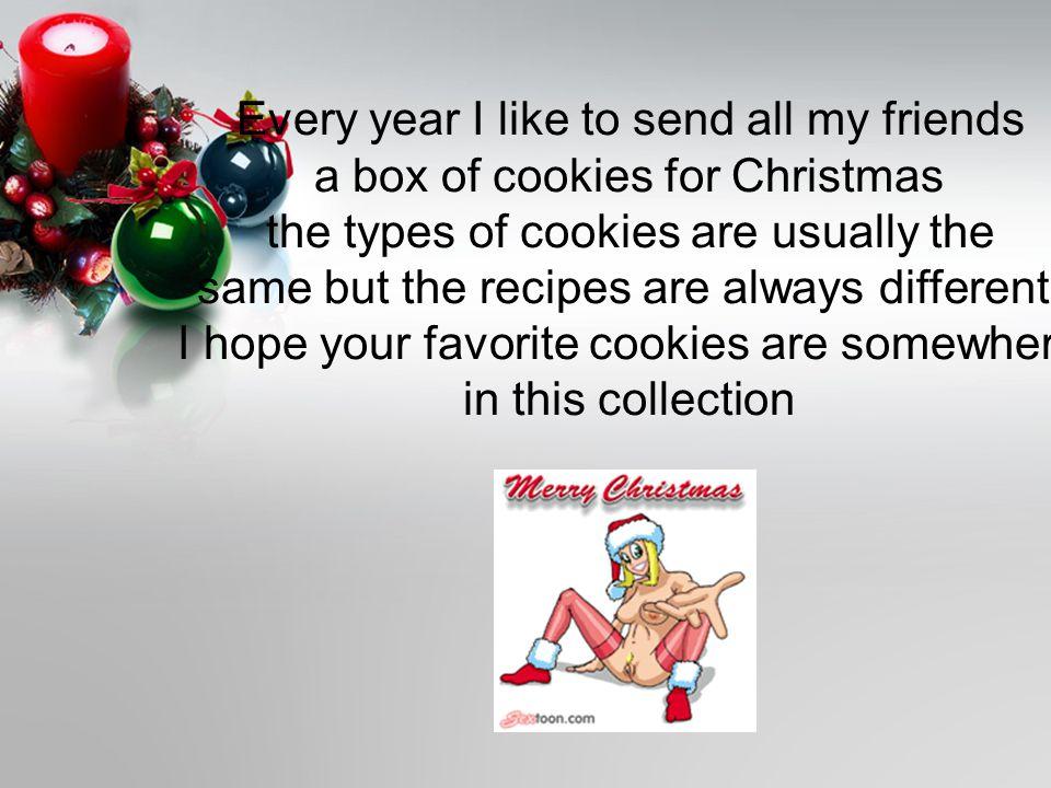 Christmas cookies to send