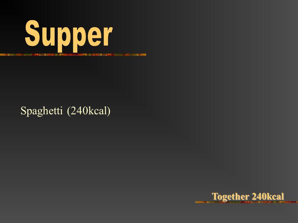Spaghetti (240kcal) Together240kcal Together 240kcal