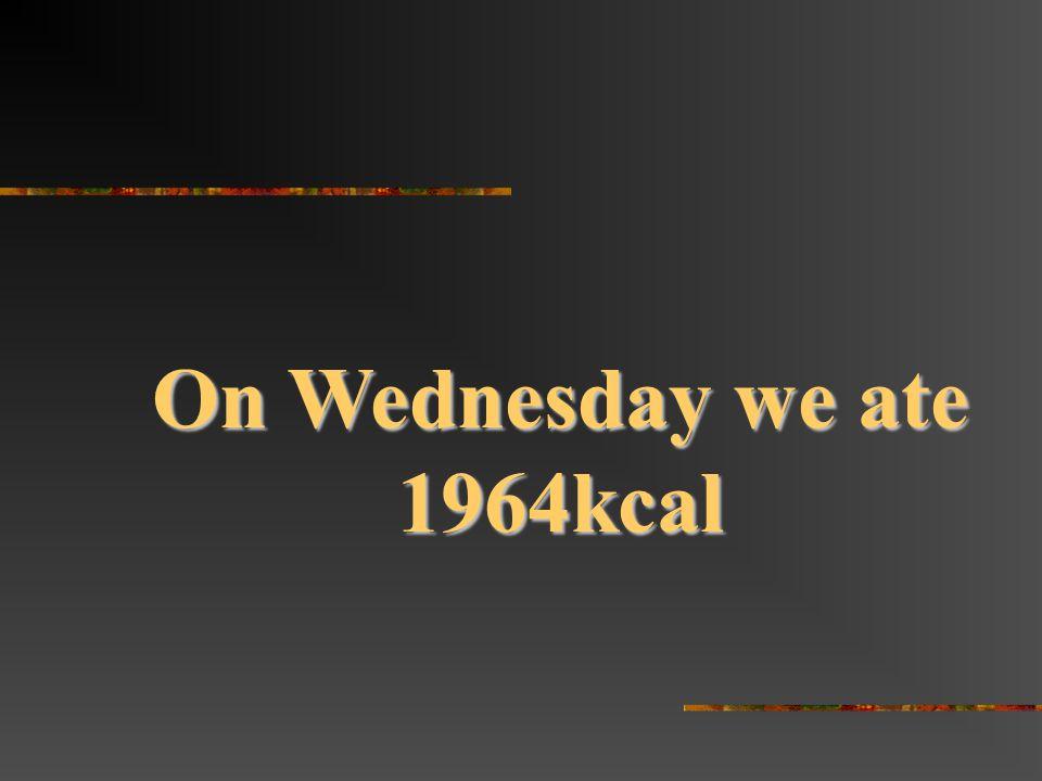 On Wednesday we ate 1964kcal