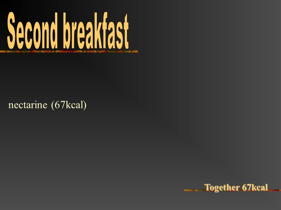 nectarine (67kcal) Together 67kcal