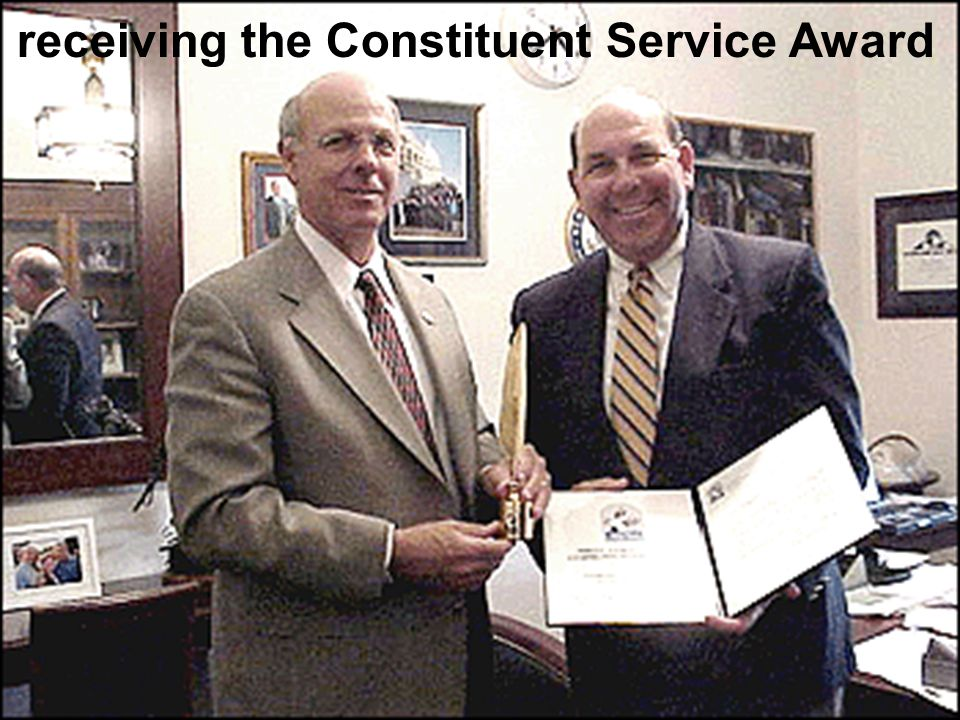 receiving the Constituent Service Award