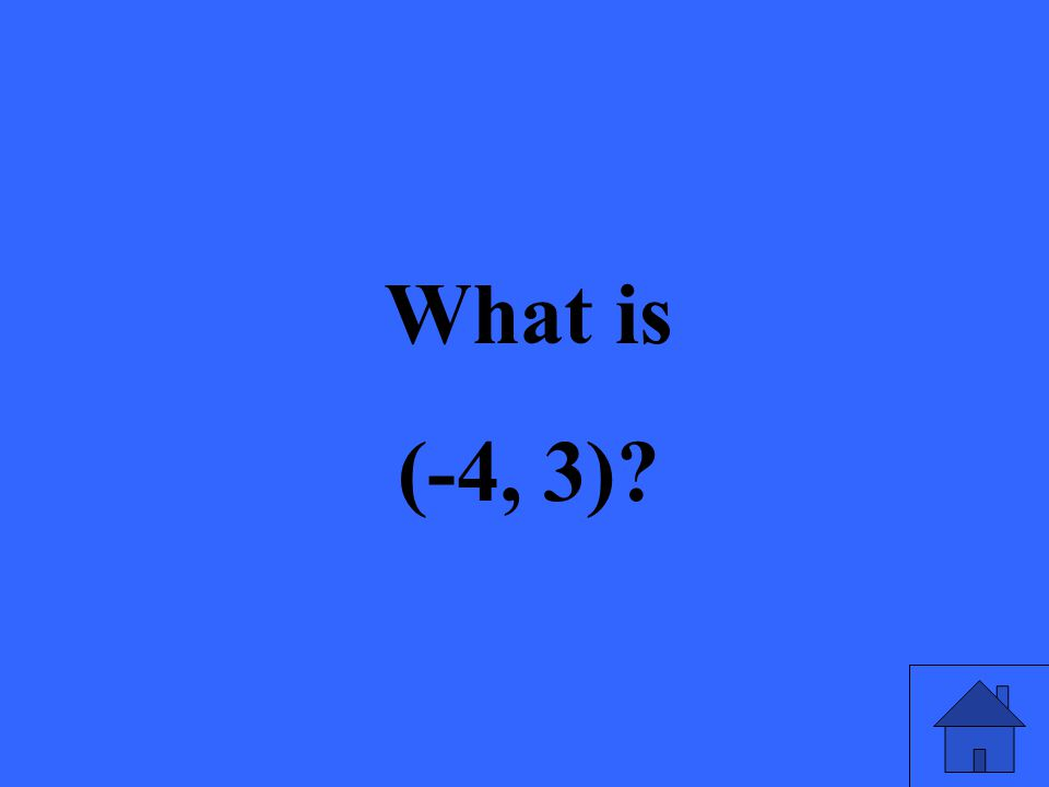 What is (-4, 3)