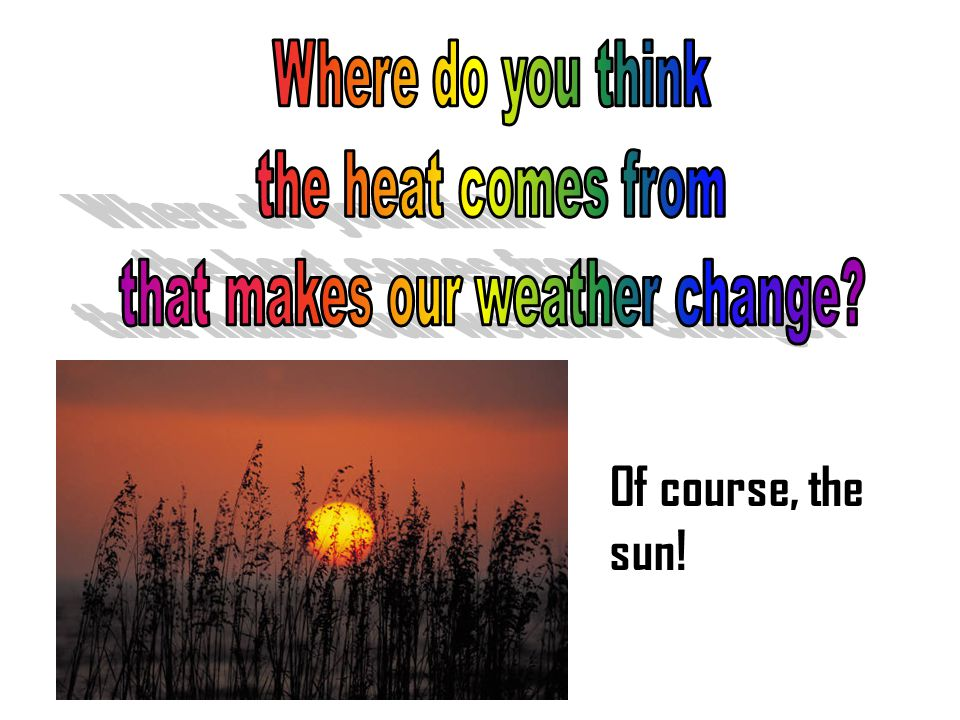 Three forms of the sun's energy come through the atmosphere and have an effect on our atmosphere and weather.