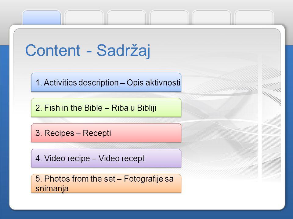 Učenici i učiteljice vjeronauka i engleskog jezika skupljali recepte prema kojima učenici najčešće pripremaju ribu te ih preveli na engleski jezik.