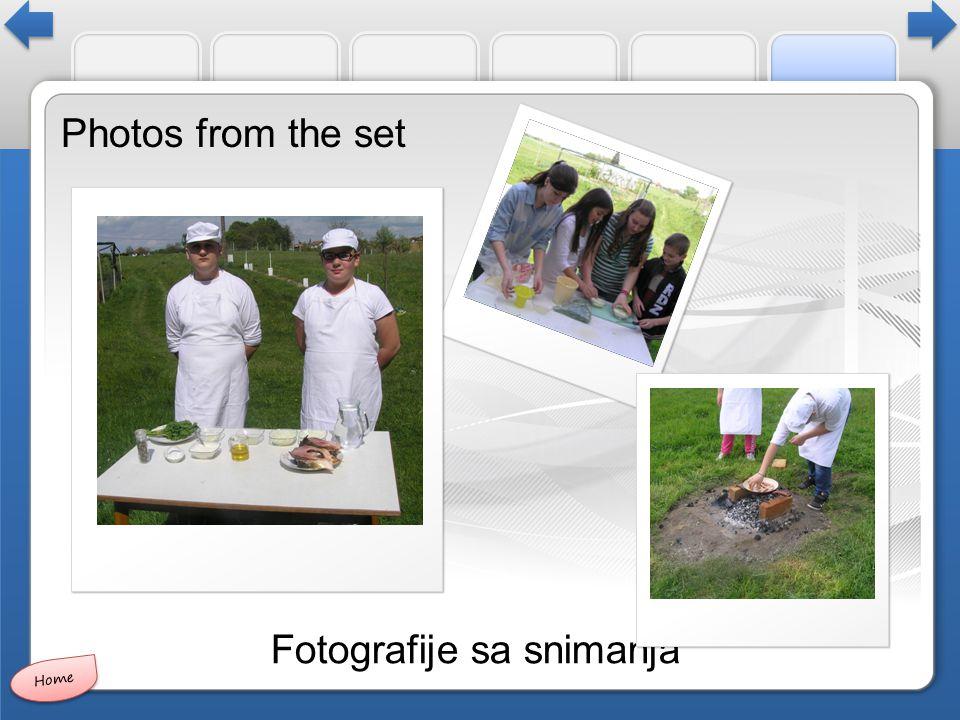 Photos from the set Fotografije sa snimanja Home