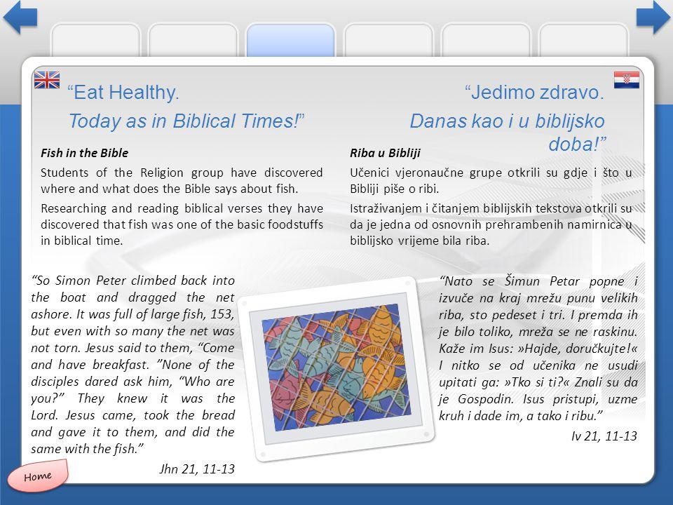 Riba u Bibliji Učenici vjeronaučne grupe otkrili su gdje i što u Bibliji piše o ribi.