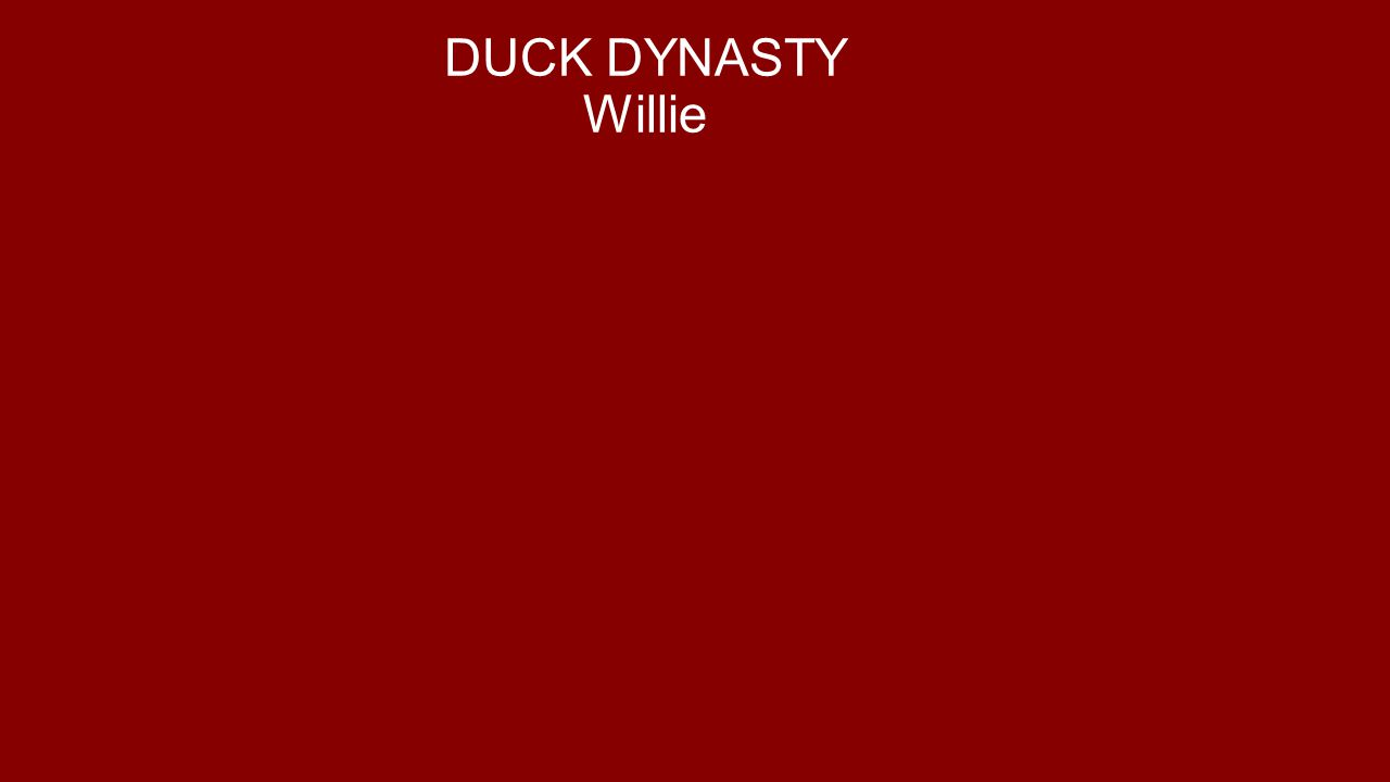 DUCK DYNASTY Willie