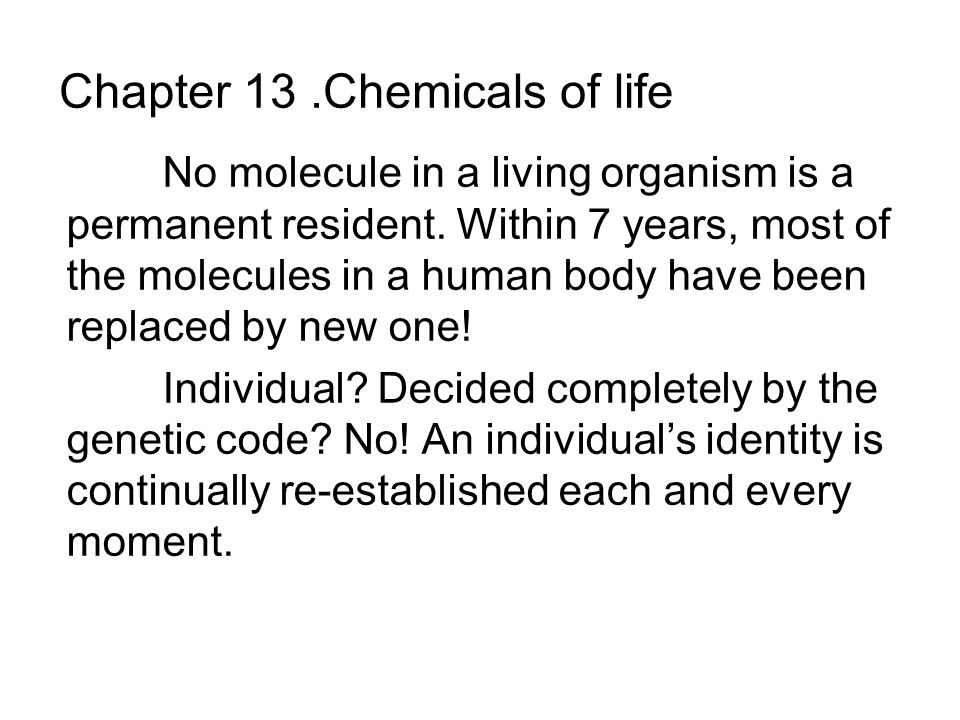 13.5 Nucleic acids code for proteins Our bodies are built of proteins.
