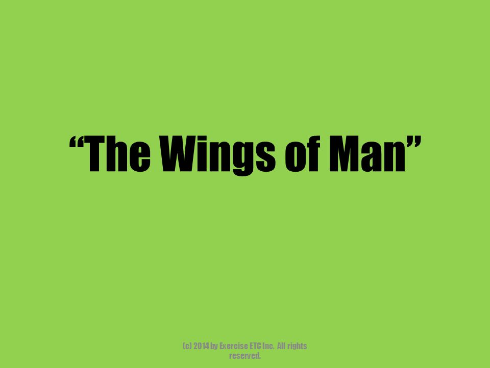 """""""The Wings of Man"""" (c) 2014 by Exercise ETC Inc. All rights reserved."""