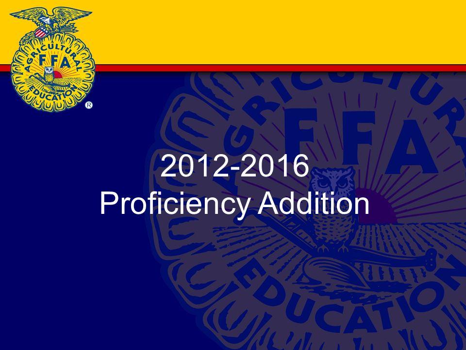 2012-2016 Proficiency Addition