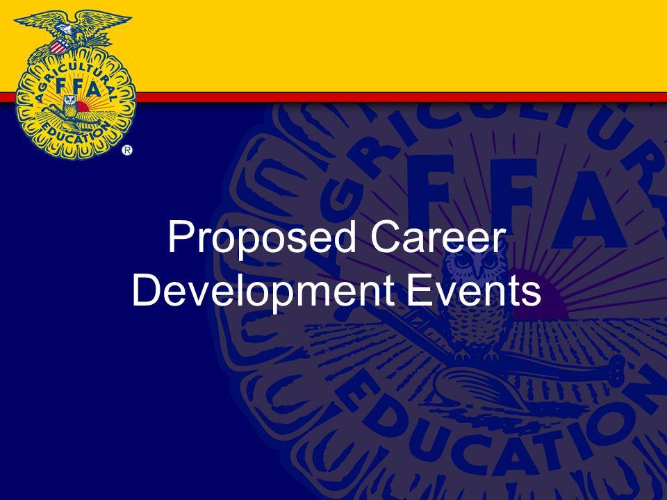 Proposed Career Development Events