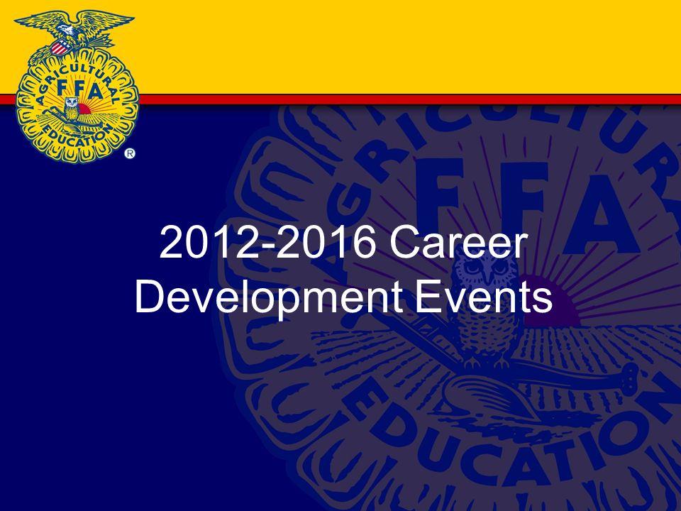 2012-2016 Career Development Events