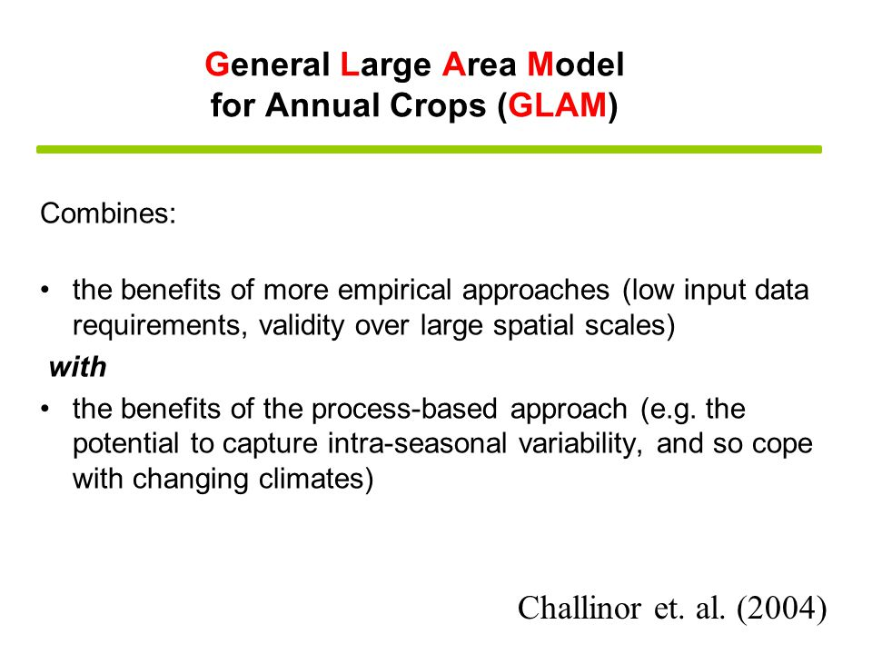 Combines: the benefits of more empirical approaches (low input data requirements, validity over large spatial scales) with the benefits of the process-based approach (e.g.