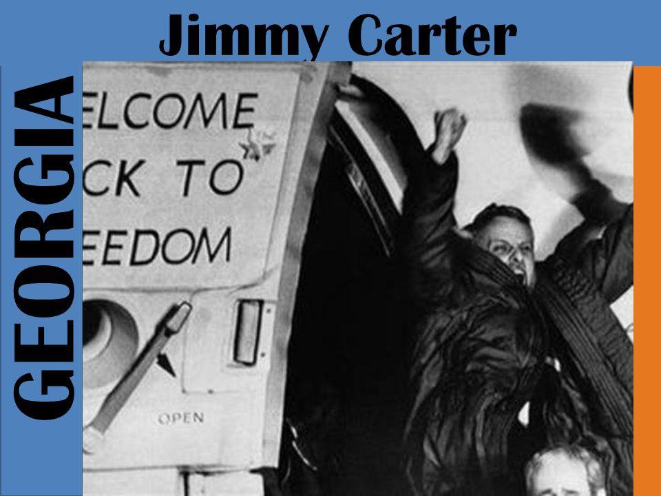 GEORGIA Jimmy Carter Eventually, five months into the crisis, Carter tries to rescue attempt that failed when the military helicopter collided with transport plane, killing several US soldiers.
