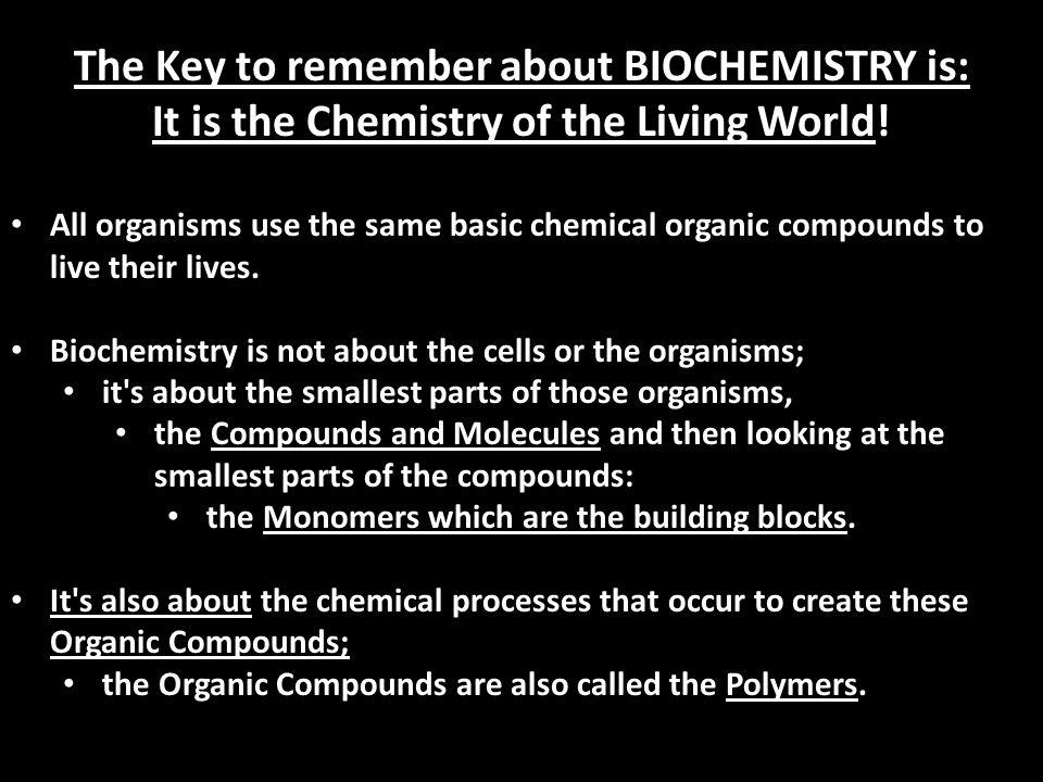 BIOCHEMISTRY NOTES UNIT 2 BIOLOGY 1 MRS. STERLING