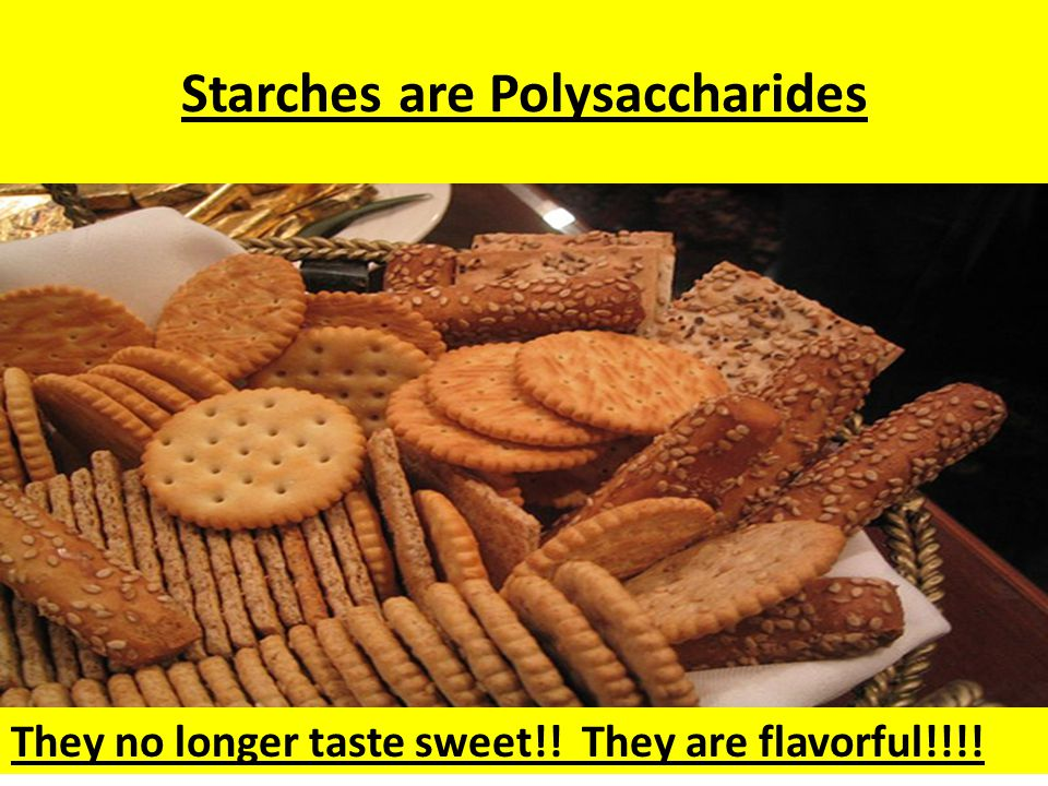 Polysaccharides Polymer of Carbs (Starches) They are called Complex Sugars and are made up of many, many sugars. When several carbohydrates combine, i