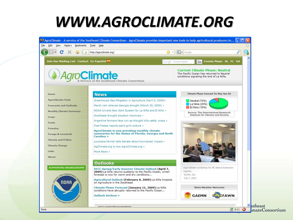 WWW.AGROCLIMATE.ORG