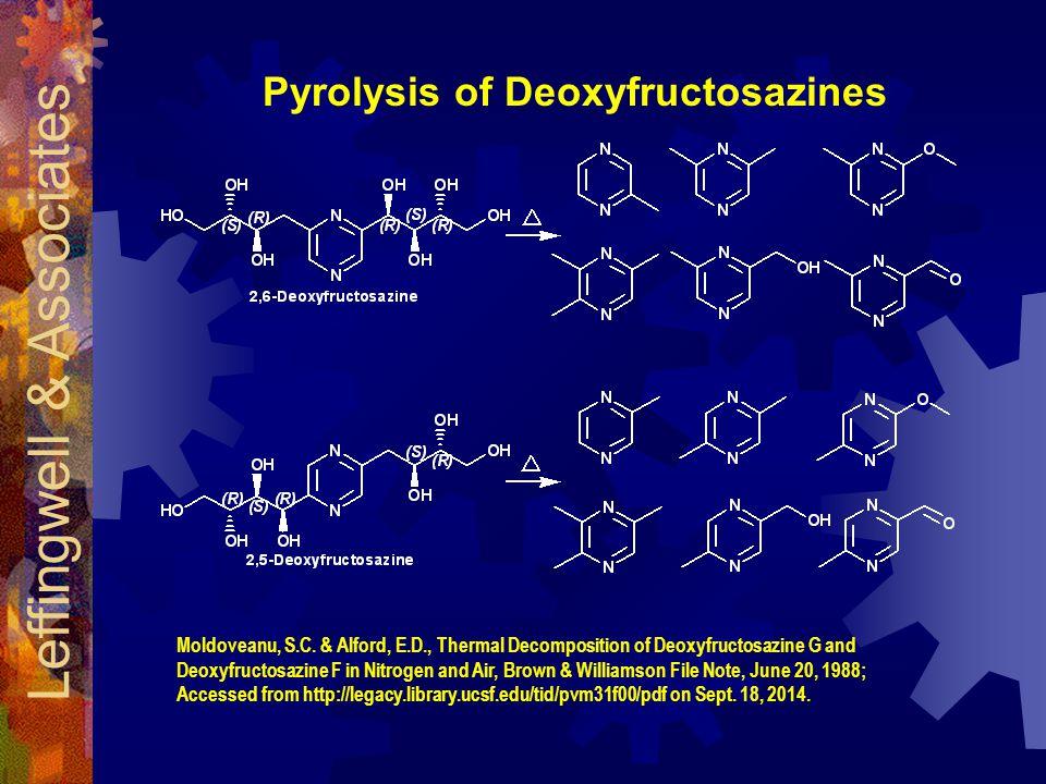 Pyrolysis of Deoxyfructosazines Leffingwell & Associates Moldoveanu, S.C.