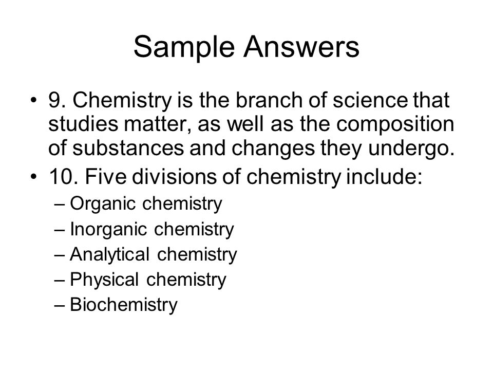 Sample Answers 9.