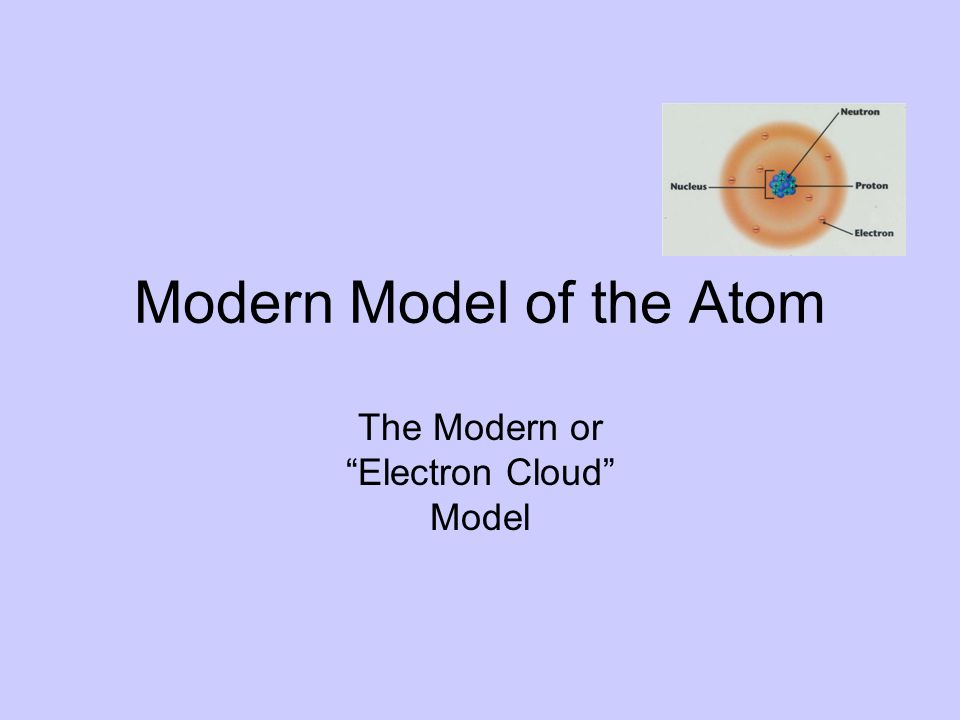 Modern Model of the Atom The Modern or Electron Cloud Model