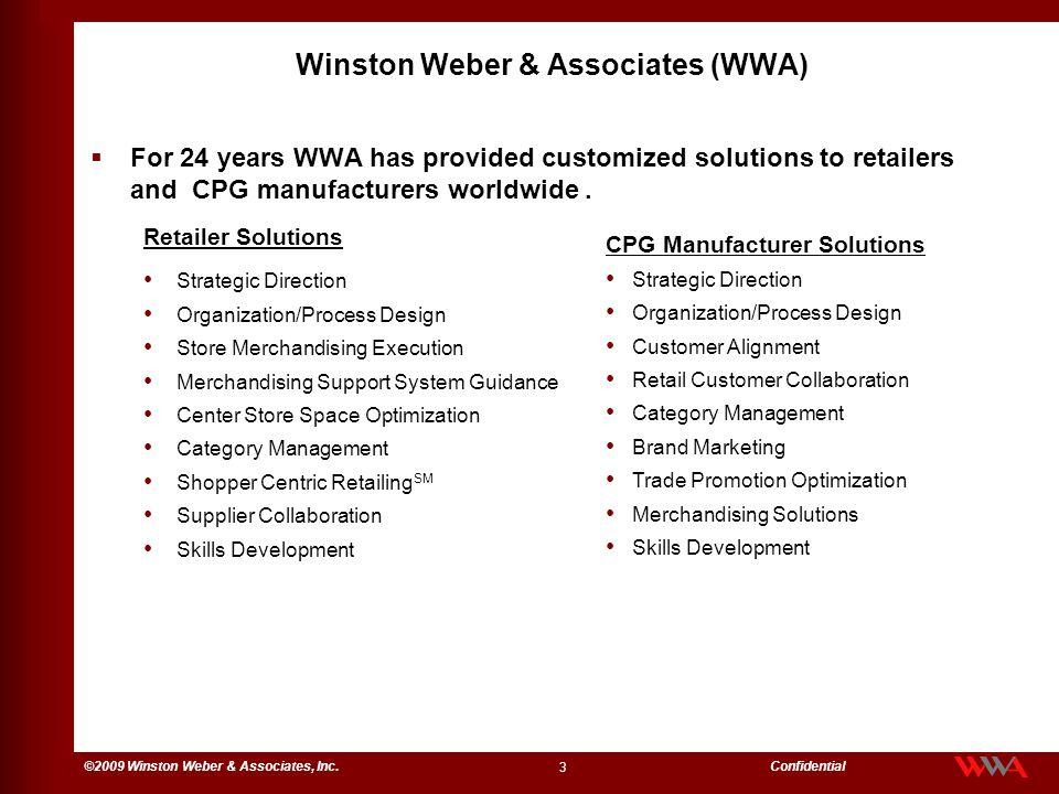 14 ©2009 Winston Weber & Associates, Inc.