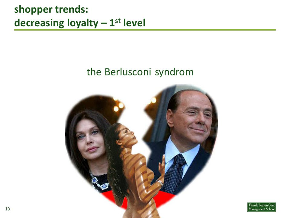 shopper trends: decreasing loyalty – 1 st level 9 | the Berlusconi syndrom