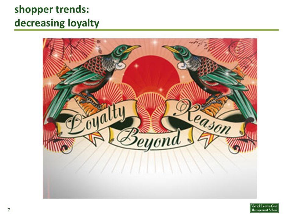 shopper trends: decreasing loyalty – 2 nd level 17 | het neusje dicht -paradigma: from brand sensitivity to indifference