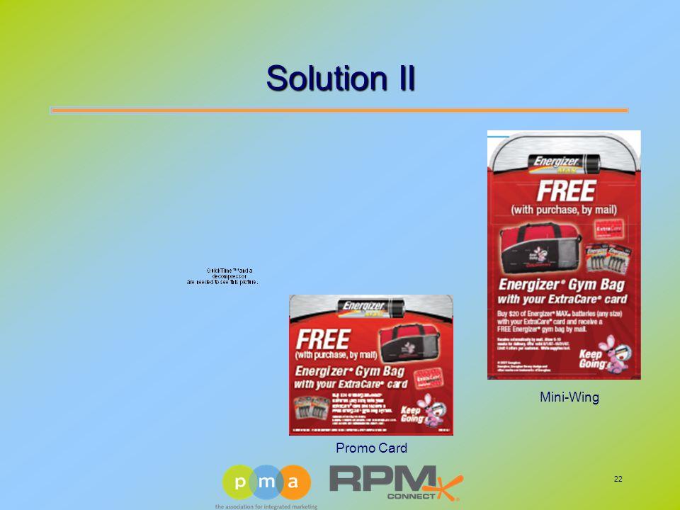 22 Solution II Promo Card Mini-Wing