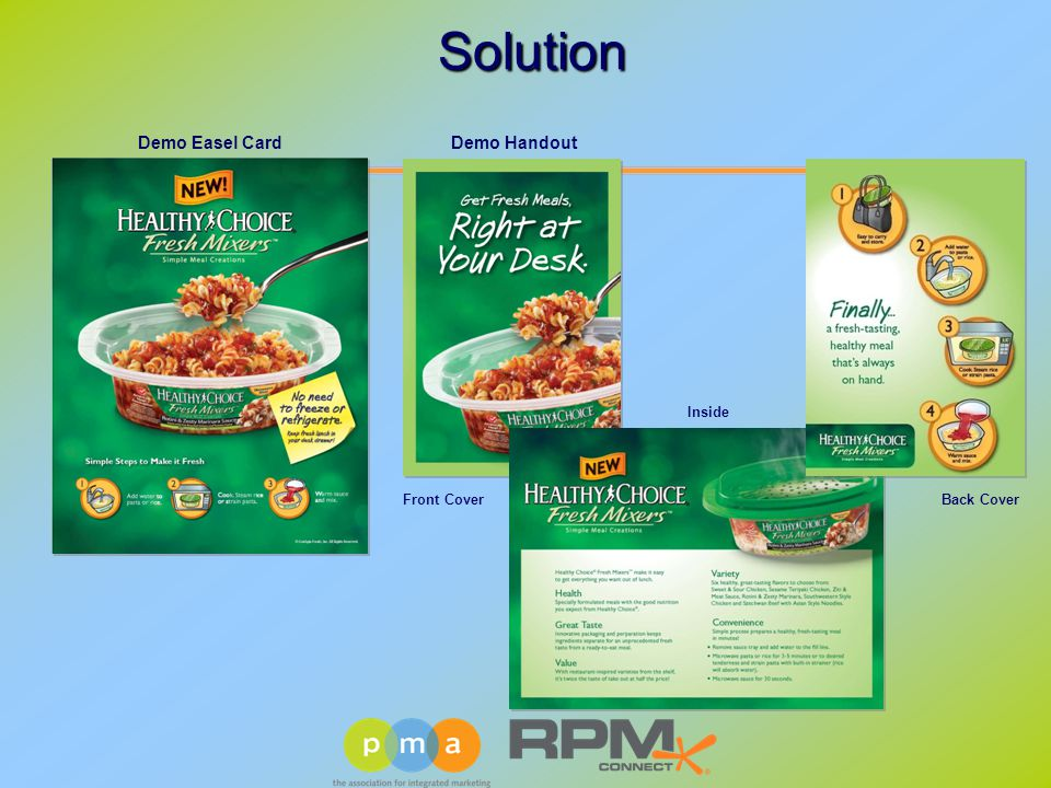 Demo HandoutDemo Easel Card Front CoverBack Cover Inside Solution Solution