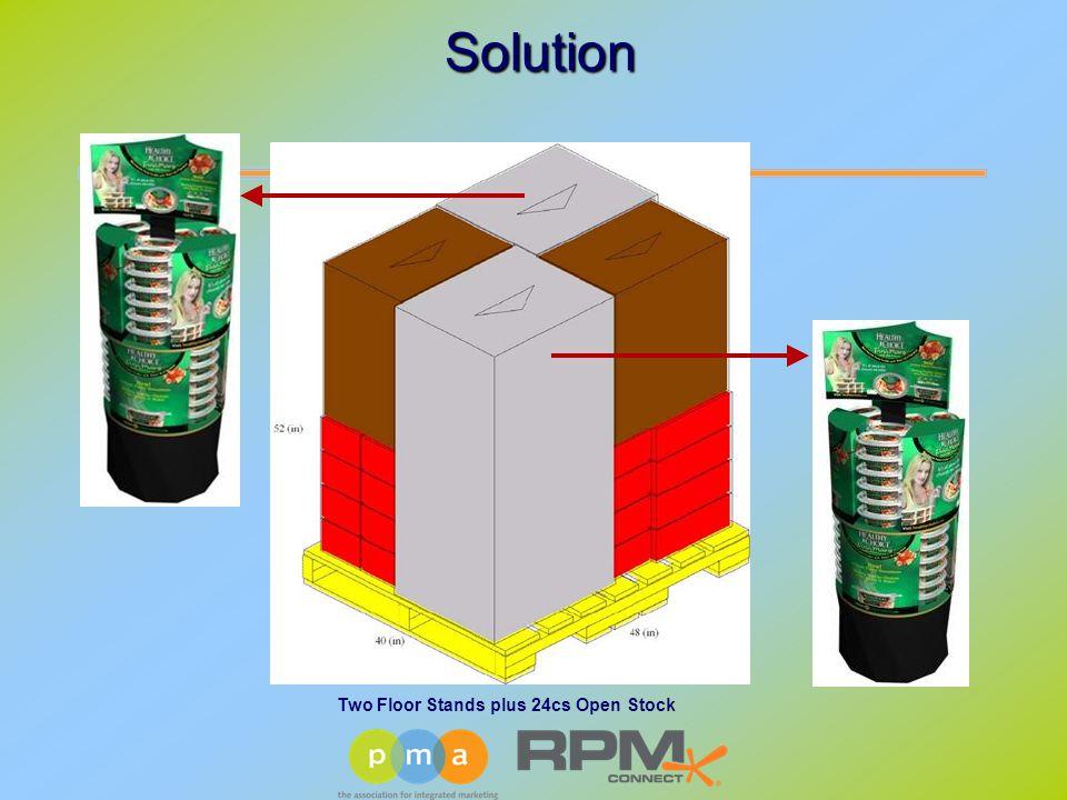 Two Floor Stands plus 24cs Open Stock Solution Solution