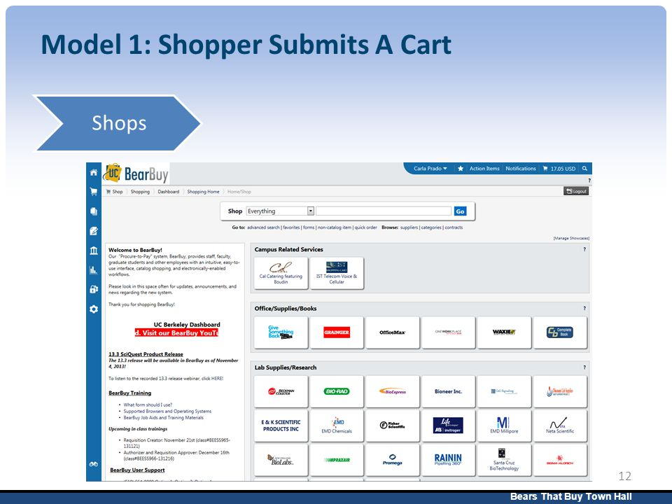 Bears That Buy Town Hall 12 Model 1: Shopper Submits A Cart Shops