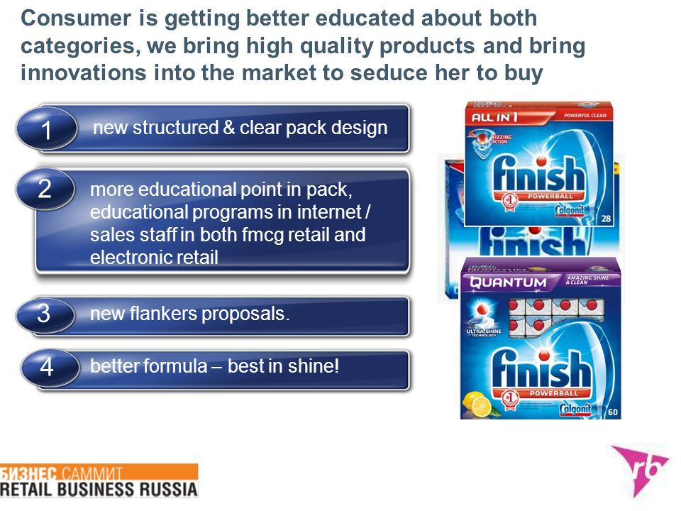 Consumer is getting better educated about both categories, we bring high quality products and bring innovations into the market to seduce her to buy n