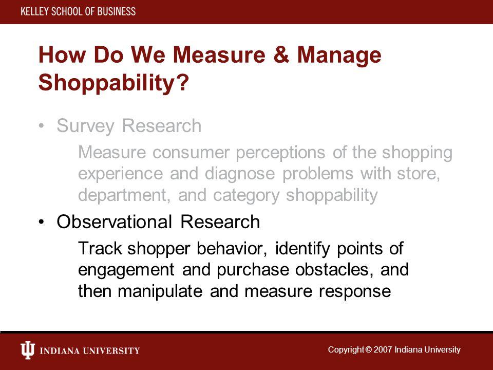 How Do We Measure & Manage Shoppability.