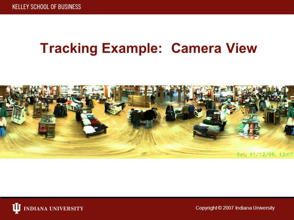 Copyright © 2007 Indiana University Tracking Example: Camera View