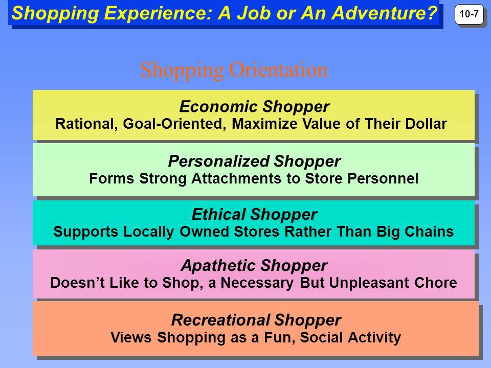 10-8 Shopping Experience: A Job or An Adventure.