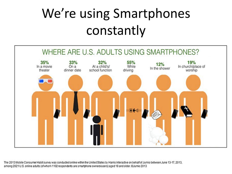 We're using Smartphones constantly