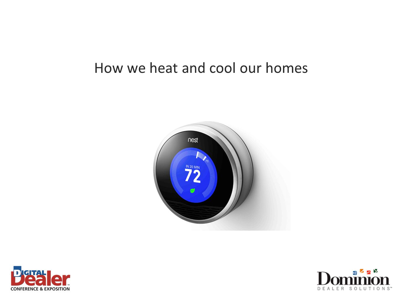 How we heat and cool our homes